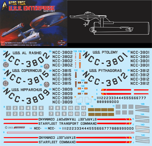 Decals Spaceships 1:1000 Scale